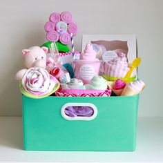 Baby Girl Gift Basket, Baby Shower Gift, Newborn Gift, Unique Baby Gift Basket by RsBabyBaskets on Etsy
