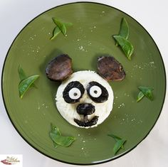 Cute food for kids panda