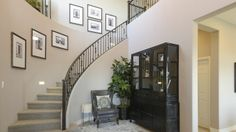 Look at this stairway! From a new home in the Bridges.