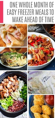 So many easy freezer meals to make ahead of time. This is so much cheaper than takeout so I need these recipes on my meal plan rotation! Budget Freezer Meals, Freezer Friendly Meals, Make Ahead Freezer Meals, Freezer Cooking, Frugal Meals, Quick Meals, Cooking Recipes, Freezer Recipes, Budget Recipes
