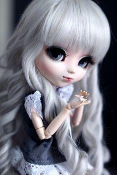 Pullip origami, sweet! Ooak Dolls, Blythe Dolls, Cute Baby Dolls, Kawaii Doll, Gothic Dolls, Smart Doll, Anime Dolls, Creepy Dolls, Doll Repaint