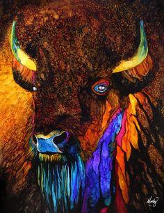 Manifest Destiny - ink on Yupo - by Monica Moody - http://www.monicamoody.com