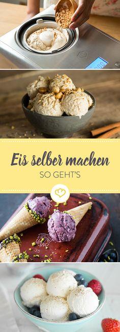 Generell gilt: Die Zutaten sollten frisch und bestenfalls naturbelassen sein. Und ansonsten benötigst du gar nicht viel, um leckeres Eis herzustellen.