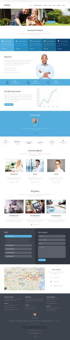 html5 website template for insurance business or similar website