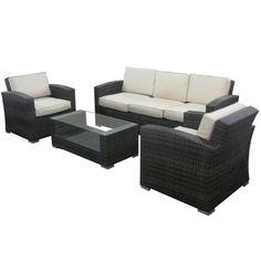 Found it at Wayfair - Argent 4 Piece Deep Seating Group with Cushion