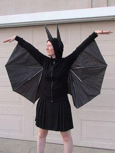 Bat wings costume with umbrella ba7617f5bd6a8