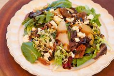 Greens with Asian pears and Fig Balsamic! www.theorganickitchen.org