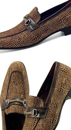 MEZLAN CAPE BEIGE AND BROWN SLIP-ONS