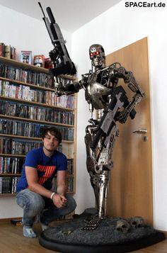 Terminator: T-800 Endoskelett - Life-Size » Typ: Statue » Hersteller: Sideshow » https://spaceart.de/produkte/te009.php