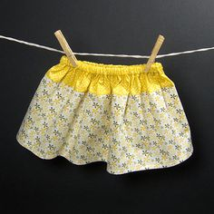 Toddler's Patterned Cotton Twirl Skirt  Girls by TwirlingMonkies, $12.95