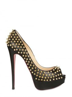 Lady Peep Leather Pumps by Christian Louboutin