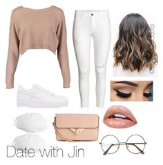 """""""Bts inspired outfits"""" by rachelullmann03 on Polyvore featuring Boohoo, NIKE and ZeroUV"""