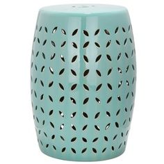 18.5-in Robins Egg Blue Ceramic Barrel Chinese Garden Stool