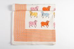 +hand block printed cow table cloths. handmade in #India and available from www.poonamshouse.com