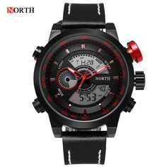 ==> [Free Shipping] Buy Best Brand Logo Luxury Series Digital LED Leather Watch Date Alarm Men's Quartz Army Military Sport Watches clock relogio masculino Online with LOWEST Price | 32698712640