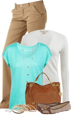 Casual Khaki Twill Pant Spring Outfit