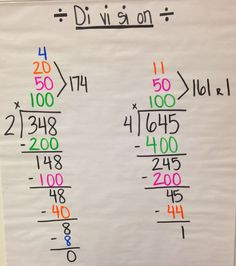 Today we began division. I always get my kids' attention by telling them I'm  going to teach them how to divide without division. Th...