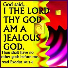 Image result for picture God is jealous Bible