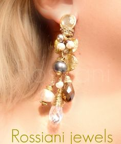 Cascade earrings - Rossiani Jewels Italian handmade jewels - Made in Italy