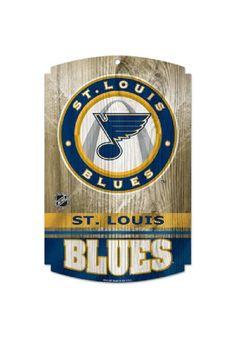 St Louis Blues 11X17 Wood Sign