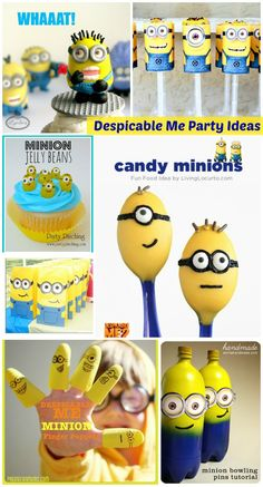 How could you not love a party full of these cute minions? I've gathered some of the most creative minion party ideas for this Despicable Me Party post. Despicable Me Party, Minions Despicable Me, Minion Party, I Party, Party Time, Party Ideas, Party Candy, Event Ideas, Minion Theme