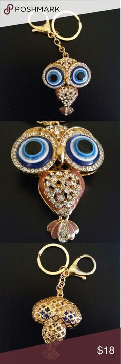 Owl keychain New. Its a owl keychain with rhinestones. Can be used as a keychain or and in your favorite purse or bag. All FAIR offers are made privately on offer button. All other offers left on comments, I'm no longer responding. No trades or Pp thanks Accessories Key & Card Holders