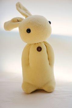 graceyen 的相簿 - 2014我的手作襪子娃娃 - 襪子娃娃141號米黃色書包兔