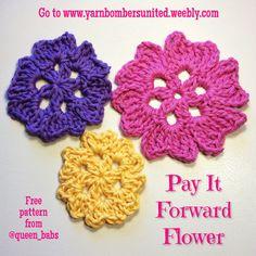 Pay It Forward Flower ~ free crochet patterns ~