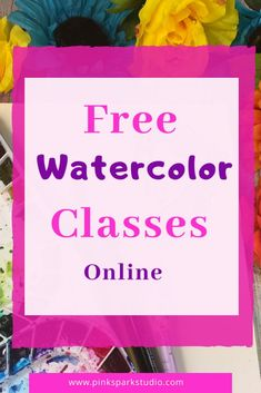 Learn how to paint with watercolors with these amazing online classes. Watercolor Journal, Watercolor Tips, Watercolour Tutorials, Watercolor Techniques, Watercolor Paintings, Learn To Paint, Beauty And The Beast, Watercolors, Art Projects