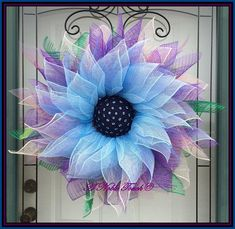 Pattern for Blue Ombre Flower by A Noble Touch Deco Mesh