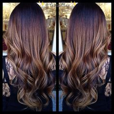 Painted Hair ❤️ brunette ombre baylage