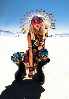 Anya gone native - Burning Man 2012 by Ian Brewer http://www.ianbrewer.com/