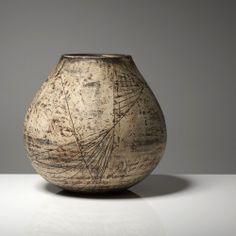 Large Globular Pot by Hans Cope side
