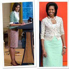 cardigan and pencil skirt combo