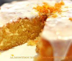 Sicilian Orange Cake   cake conversions:  1c butter, 2c sugar, 2c flour, a little over 1/3c orange juice --  icing conversions:  1c sugar