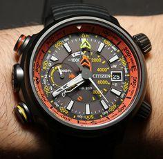 Citizen Altichron Analog Altimeter Compass Watch Hands-On