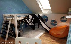 Design dětského pokoje na míru s motive pirátů