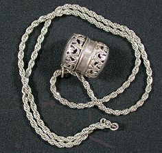 Thimble case with chain sterling Sold for $89