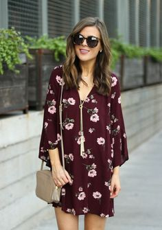 Fall Floral Dress + $600 PayPal Giveaway