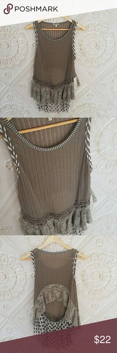 Boho tank NWT Boho tank with gorgeous cut out back. BKE Tops Tank Tops