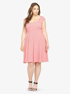 """super sweet polka dot dress (I have a similar red dress but I like how """"innocent"""" this pink one is)"""