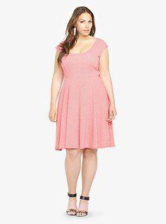 Polka Dotted Skater Dress | Torrid
