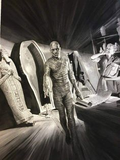 Universal Classic Monsters Art : The Mummy 1932 by Alex Ross.