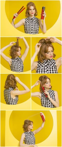 Half up, half down, all style. Nab the tutorial for this retro bouffant!