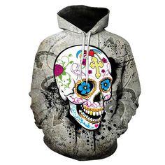 Flowerful Skull Hoodie