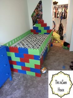 Building Block Bed If you child has been asking for a lego themed ...