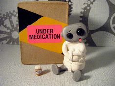 CrAzY Robot Limited Edition by sleepyrobot13 on Etsy, $15.00