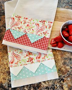 Prairie Point Tea Towels Tutorial