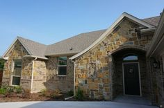 Front Elevation, Full stone and brick #mcbeehomes