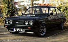 Escort MK2 RS2000 Black Ford Rs, Car Ford, Classic Motors, Classic Cars, Gt Turbo, Car Goals, Old Fords, Street Racing, Ford Escort
